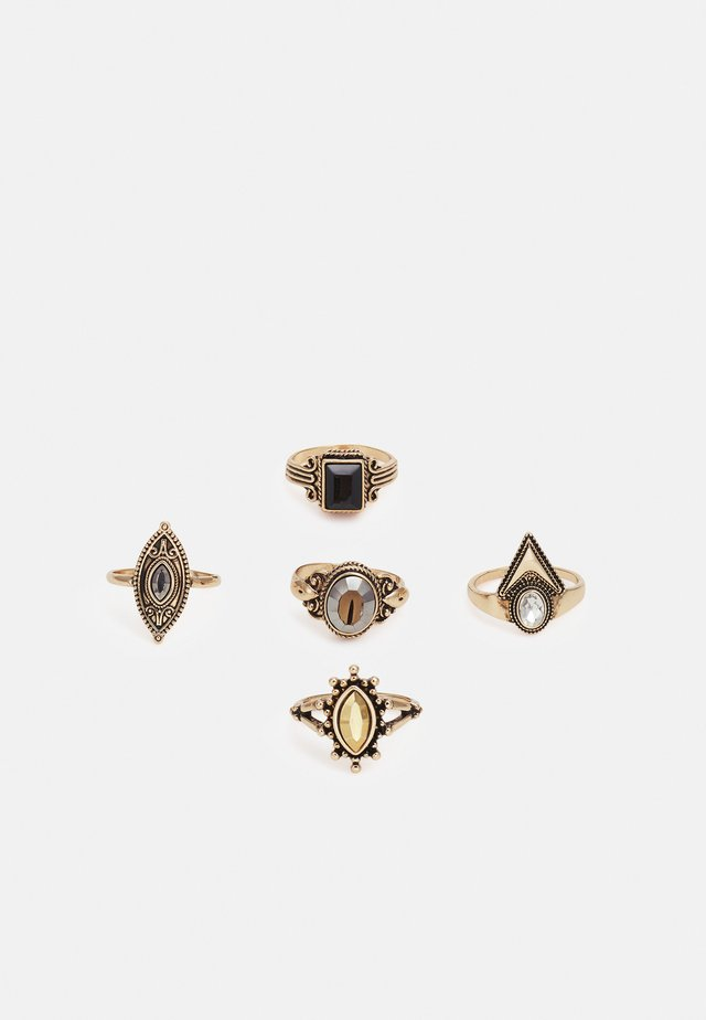 UMARELIA 5 PACK - Ring - gold-coloured/black