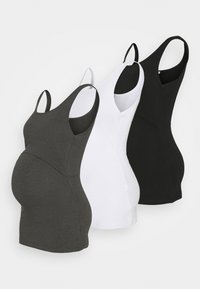 Anna Field MAMA - NURSING 3er PACK - Top - Top - black/dark grey/white - 0
