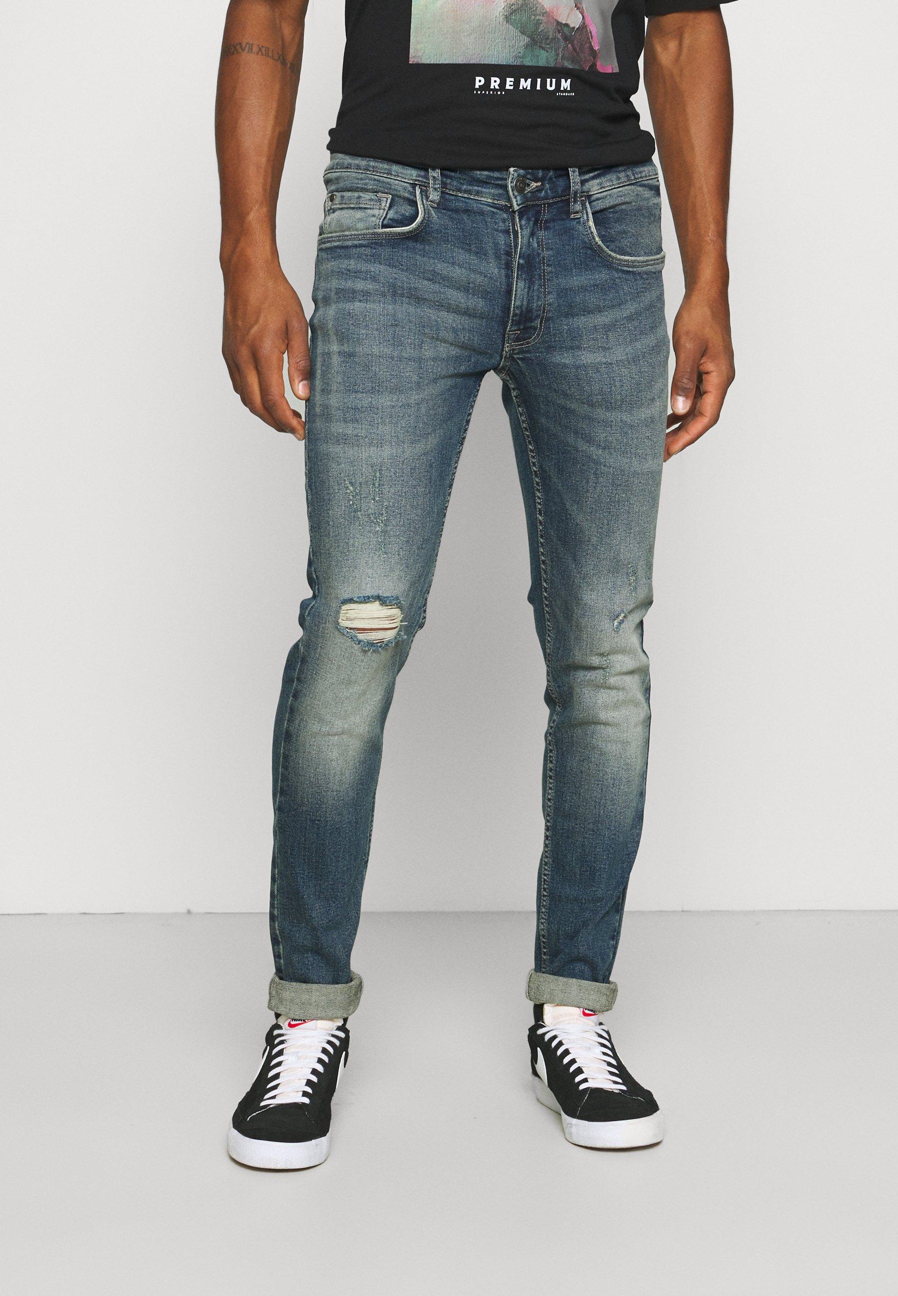 Uomo STOCKHOLM DESTROY - Jeans slim fit