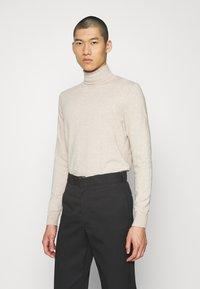 Zign - Stickad tröja - mottled beige - 0
