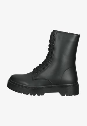 Lace-up ankle boots - soft black