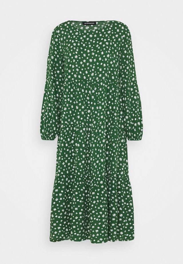 Korte jurk - green/white