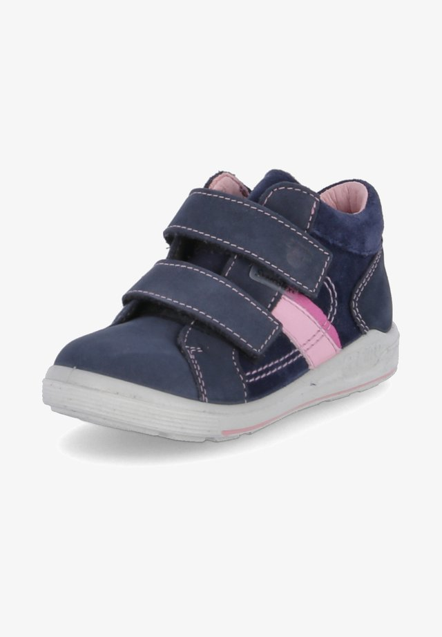 Touch-strap shoes - blau - rosa