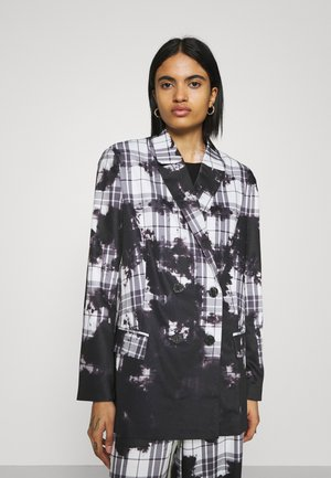 SLOUCH BLEACH CHECK - Short coat - multi