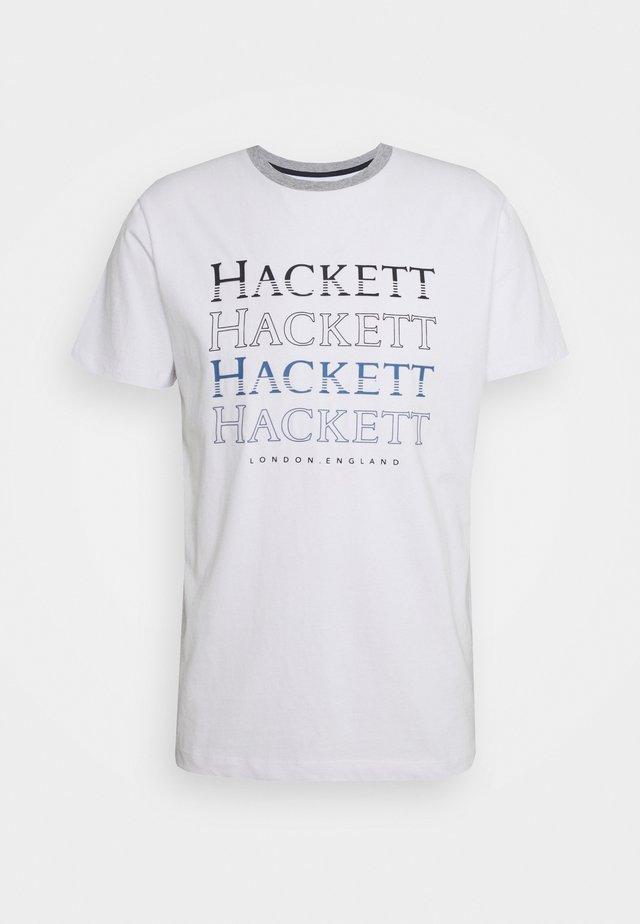 ECHOS - T-shirt print - white