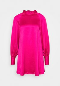 Glamorous - MINI SWING DRESS WITH LONG SLEEVES AND CUT OUT  - Day dress - pink sateen - 0
