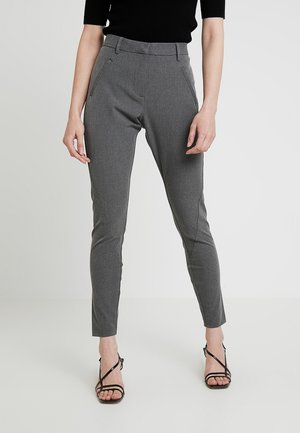 ANGELIE - Trousers - grey melange