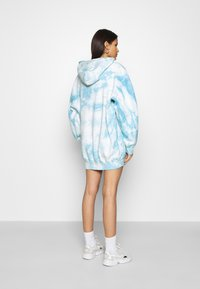 Missguided - PLAYBOY OVERSIZED HOODY DRESS - Korte jurk - blue - 2
