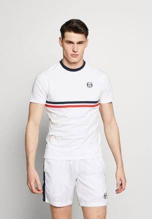 FRIDAY - Print T-shirt - white/navy