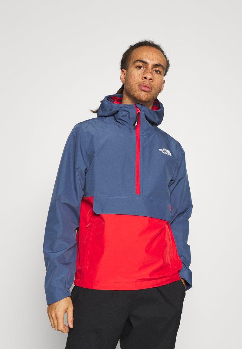 The North Face - WATERPROOF FANORAK - Hardshell-jakke - vintage indigo/rococco red