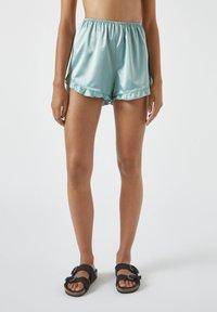 PULL&BEAR - MIT VOLANT - Pyjama bottoms - blue - 0