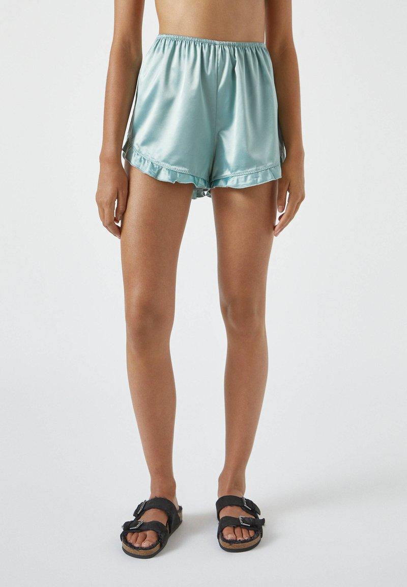 PULL&BEAR - MIT VOLANT - Pyjama bottoms - blue