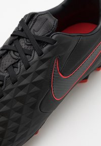 Nike Performance - TIEMPO LEGEND 8 PRO FG - Moulded stud football boots - black/dark smoke grey/chile red - 5