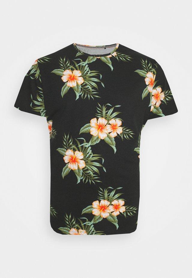 TEE - T-shirt med print - black