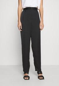Monki - LAINEY TROUSERS - Trousers - black - 0