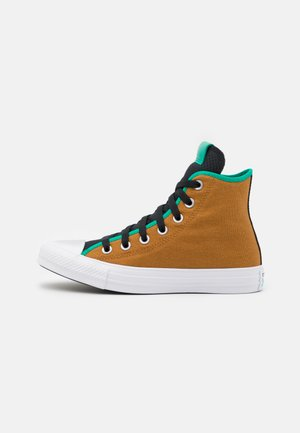 CHUCK TAYLOR ALL STAR DIGITAL TERRAIN UNISEX - Sneakersy wysokie - dark soba/black/court green