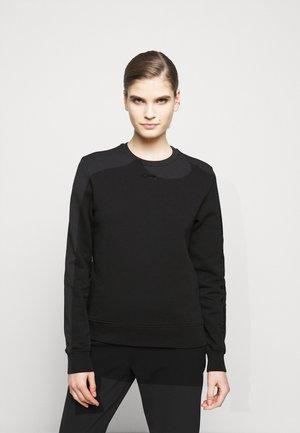 RHINESTONE LOGO - Sweatshirt - black
