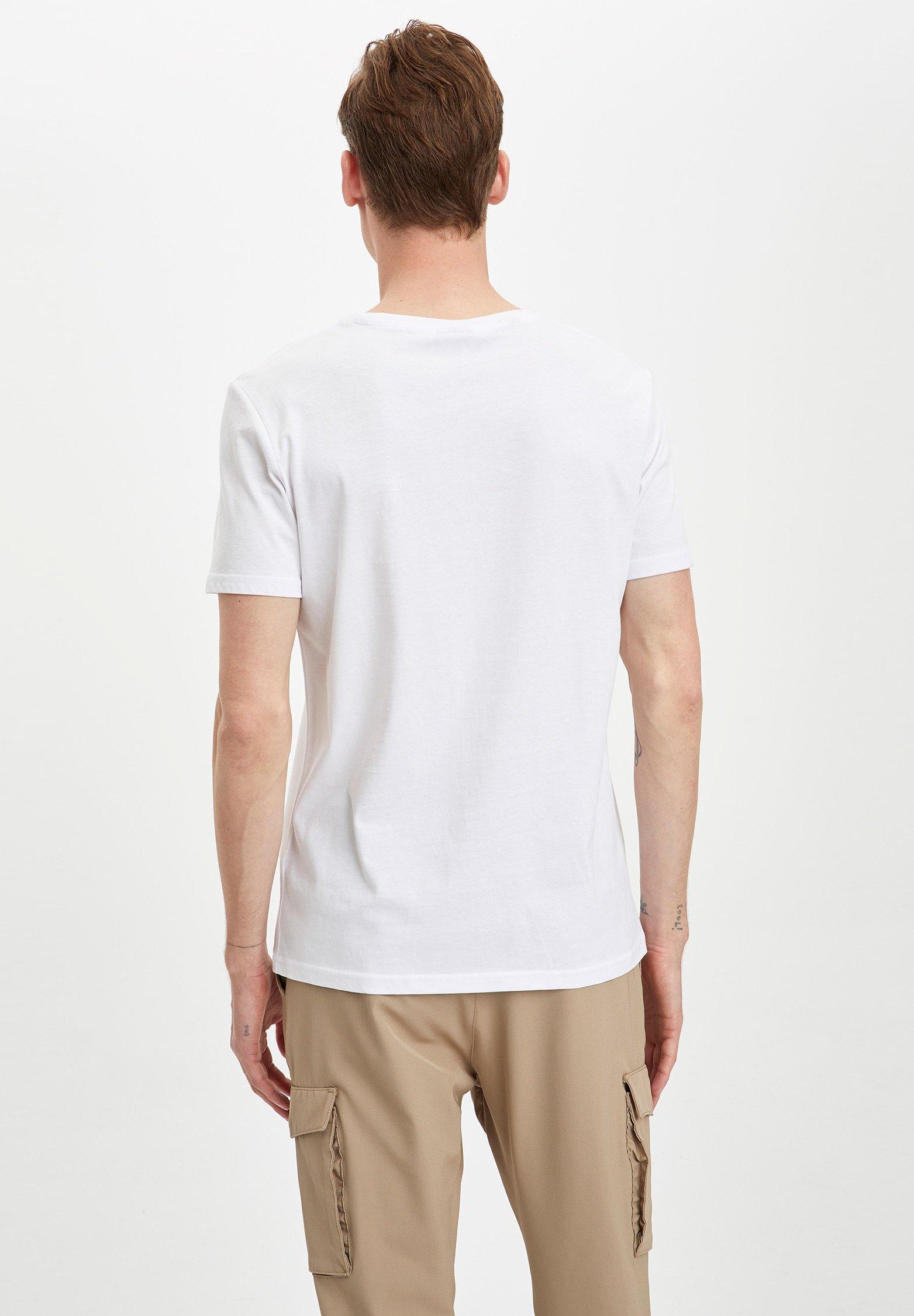DeFacto Print T-shirt - white J3c2B