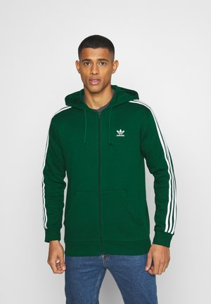 STRIPES UNISEX - veste en sweat zippée - dark green
