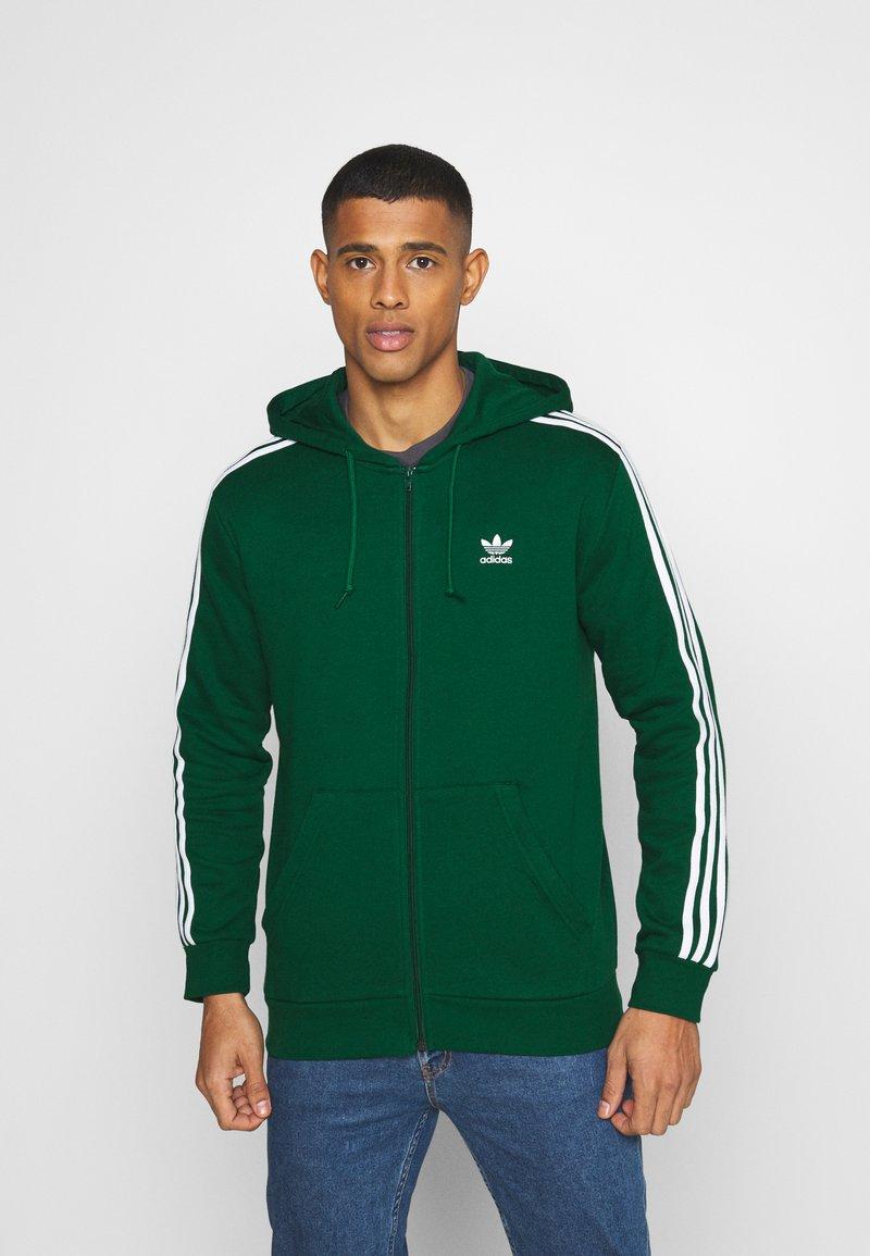 adidas Originals - STRIPES UNISEX - Mikina na zip - dark green