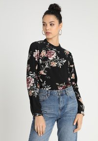 ONLY - ONLNEW MALLORY  BLOUSE - Blus - black - 0