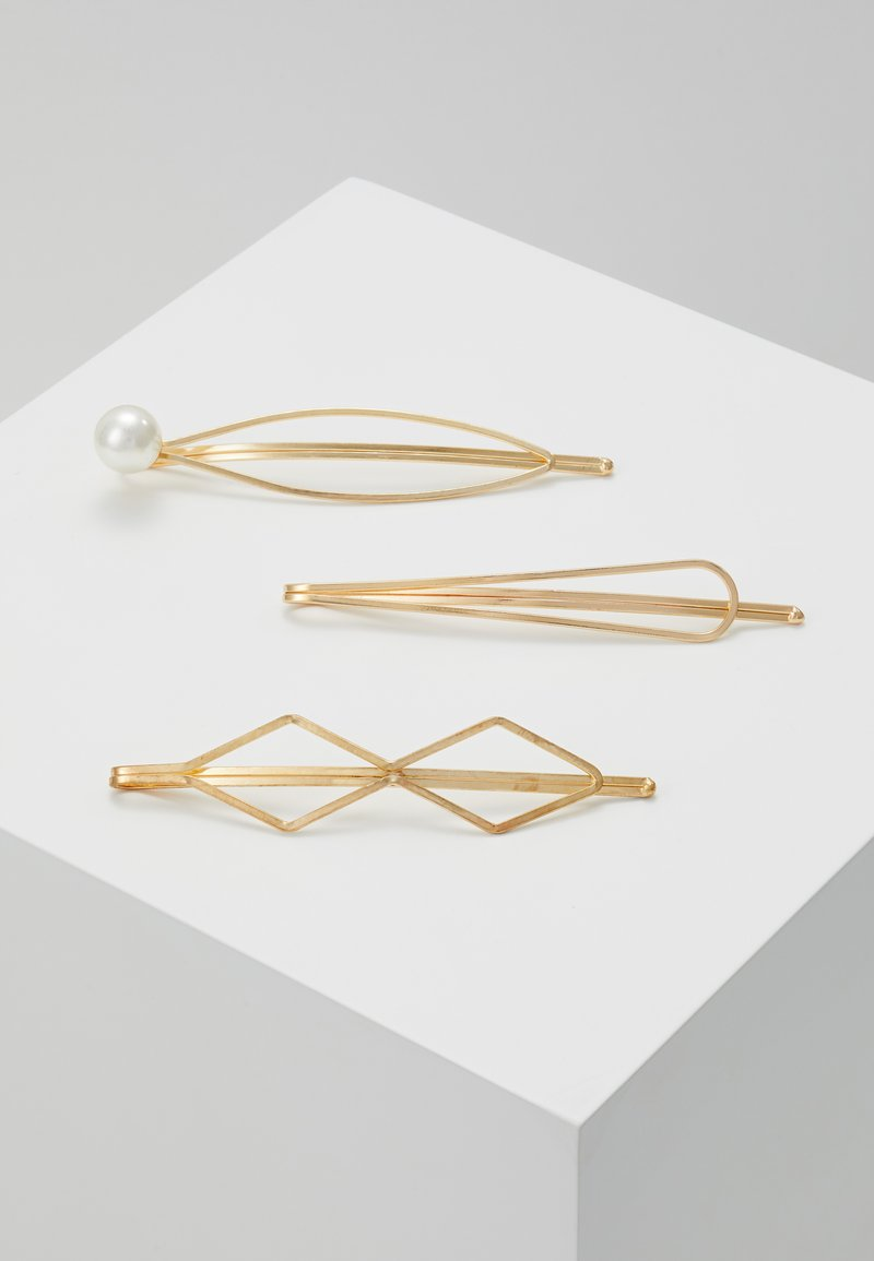 sweet deluxe - HAIR ACCESSORY 3 PACK - Hair Styling Accessory - gold-coloured/white