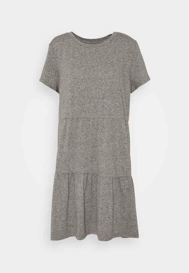TIERED - Jersey dress - light heather grey