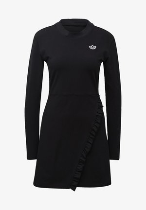 LONG SLEEVE DRESS - Freizeitkleid - black