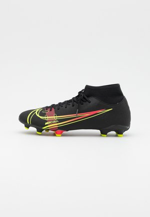 MERCURIAL 8 ACADEMY FG/MG - Moulded stud football boots - black/cyber/off noir