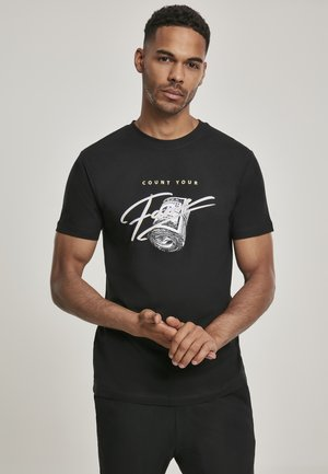 COUNT YOUR FAME  - Print T-shirt - black