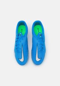 Nike Performance - PHANTOM GT ACADEMY FG/MG - Moulded stud football boots - photo blue/metallic silver/rage green - 3