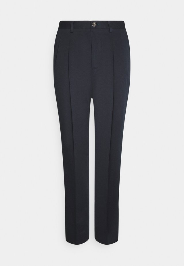 MENS TROUSER TAPERED FIT - Stoffhose - dark blue