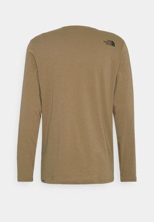 IMAGE IDEALS TEE UTILITY BROW - Bluzka z długim rękawem - utility brown