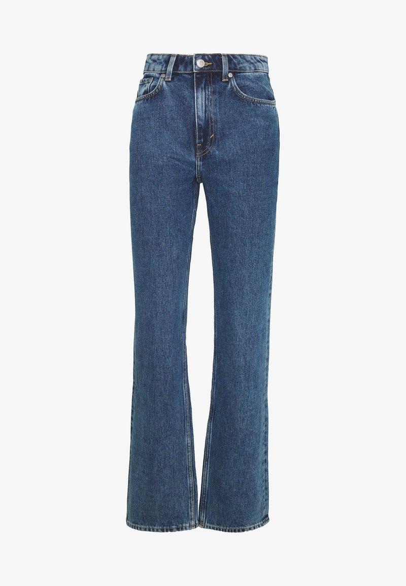 Weekday VOYAGE LOVED - Jeans Straight Leg - echo black/black denim uUD4WD