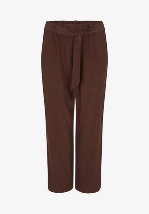MIT ELASTIKBUND - Trousers - brown