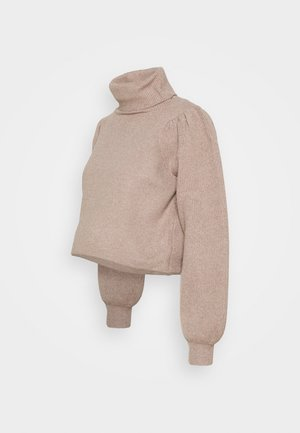 PCMSALSA ROLL NECK - Strikkegenser - natural melange