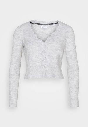NMMODE NECK SHORT - Cardigan - light grey / melange