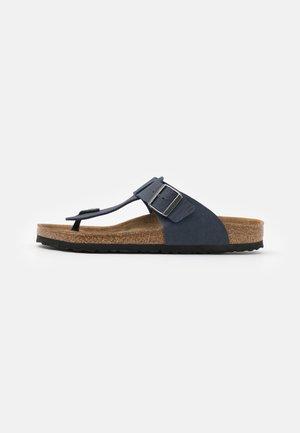 MEDINA VEGAN FOOTBED - Slippers - saddle matt navy