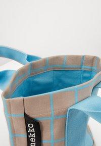 Marimekko - ILTA ISO RUUTU BAG - Sac à main - beige/turquoise - 2