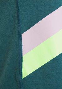 Nike Performance - DRY STRIPE - Top - dark teal green/lime glow - 5