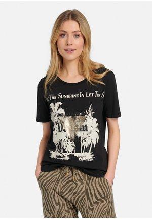 Print T-shirt - schwarz/multicolor
