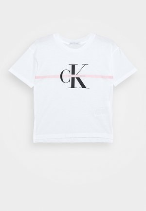 MONOGRAM STRIPE - T-shirt z nadrukiem - white