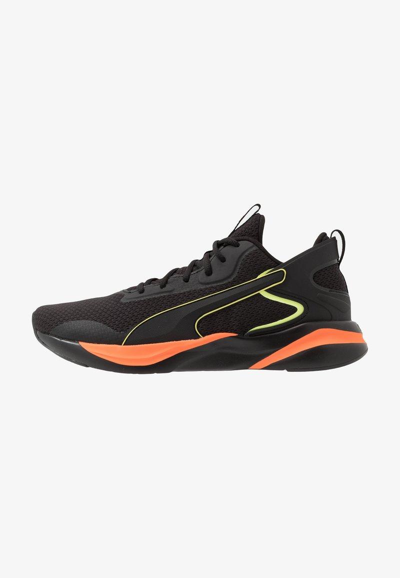 Puma - SOFTRIDE RIFT TECH - Hardloopschoenen neutraal - black/ultra orange