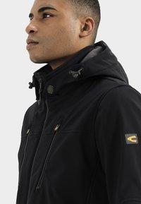 camel active - MIT STEHKRAGEN UND KAPUZE - Summer jacket - black - 4