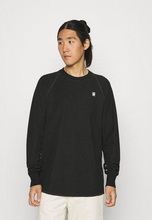 JIRGI TAPE DETAIL - Stickad tröja - black/asfalt