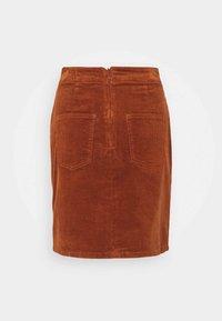 Dorothy Perkins - WRAP BUTTON SKIRT - Mini skirt - tan - 1