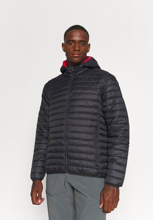 FIX HOOD - Winter jacket - antracite/grenadine