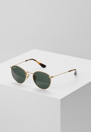 JUNIOR ROUND - Gafas de sol - gold-coloured/grey