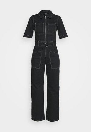 CONTRAST STITCH BOILERSUIT - Overall / Jumpsuit /Buksedragter - black