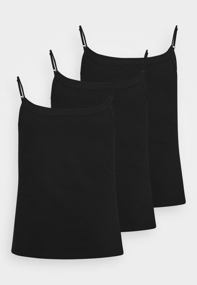 3 PACK - Top - black